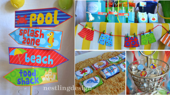 Beach Or Pool Party Printable DIY Package