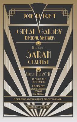 Great Gatsby Invitations, Gatsby Style, Roaring 20s