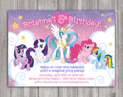 My Little Pony Invitation for Birthday Party
