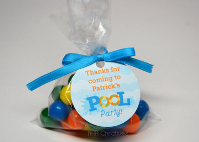 Pool Party Favor Tag