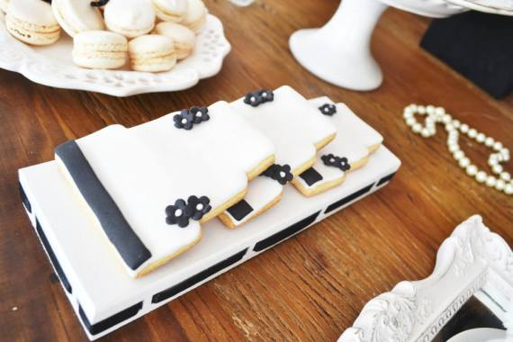 black-damask-70th-birthday-party-cookies