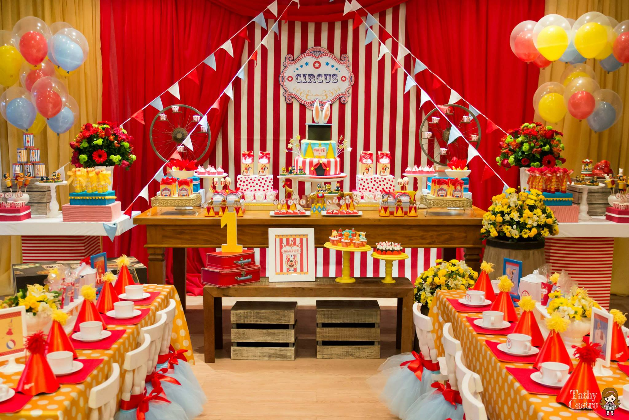 ... classic-red-white-circus-themed-birthday-party-ideas- ... & Classic Red u0026 White Circus Themed Birthday Party - Birthday Party ...