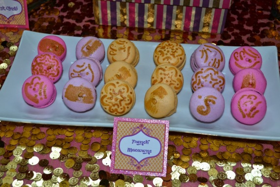 gold-moroccan-teen-birthday-party-french-macarons