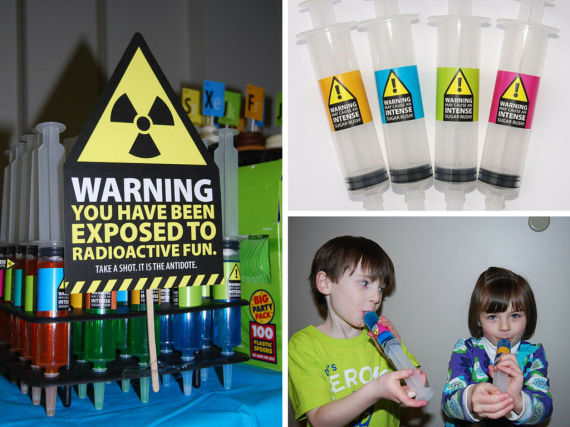 mad science party ideas and supplies Mad Scientist Jello Syringe