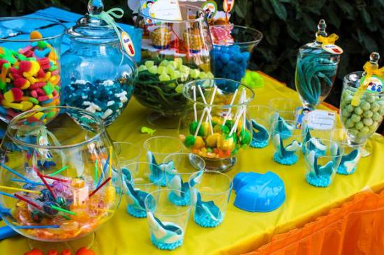 Colorful Beach Birthday Party snacks and treats