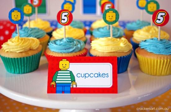 Crackers LEGO Birthday Party