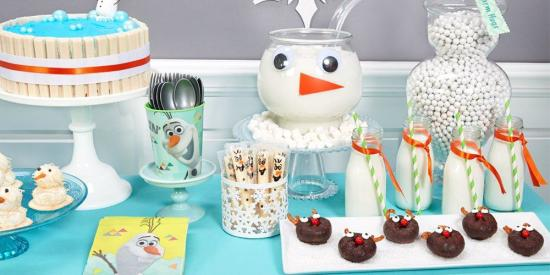 Olaf-Themed Party supplies and Ideas
