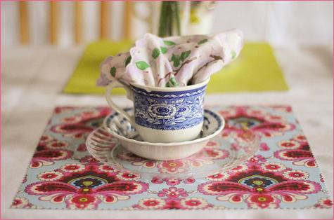 Vintage Inspired Tea Party napkin decoration