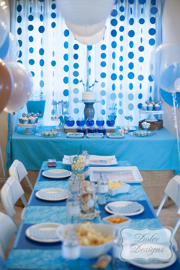 Under the Sea Birthday Party tablesetting