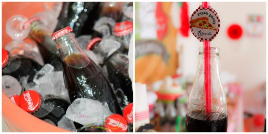 pizza party cola toppers