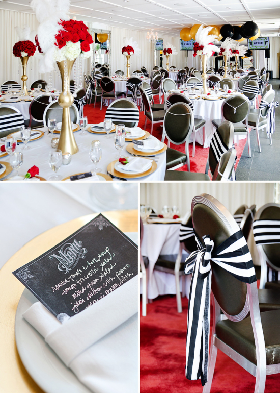 Derby & Roaring Gatsby Birthday Party guest seating