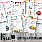 FREE Birthday Interview Printable