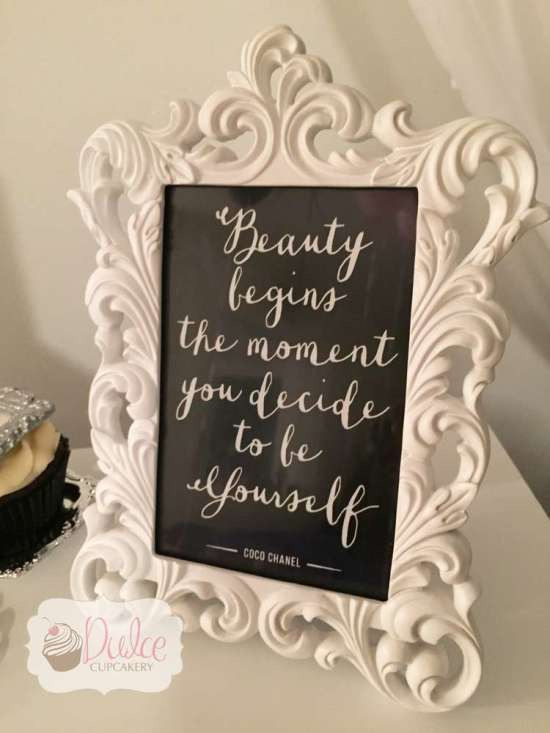 beauty begins the moment you decide yourself sign