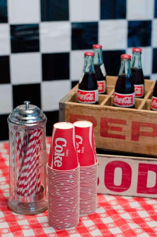 vintage diner's party decors