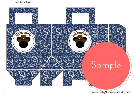 FREE_Cowboy-little-mickey-mouse-printable A4 favor bags