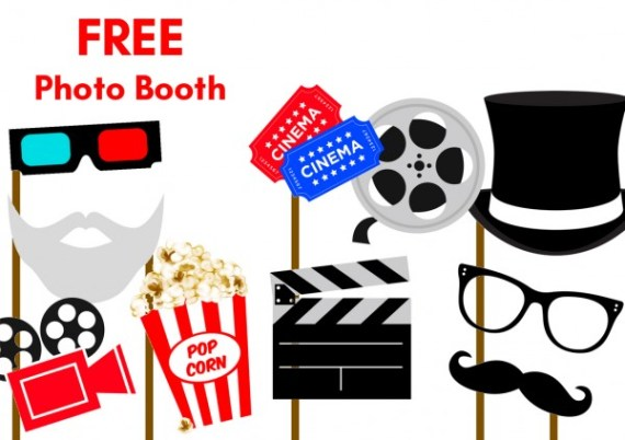 Free-Hollywood-Movie-party-Photobooth-Props