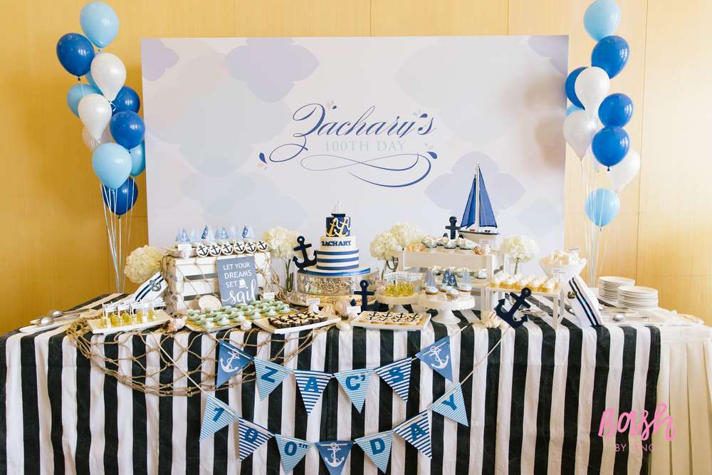 Modern Nautical Birthday Party Birthday Party Ideas Amp Themes