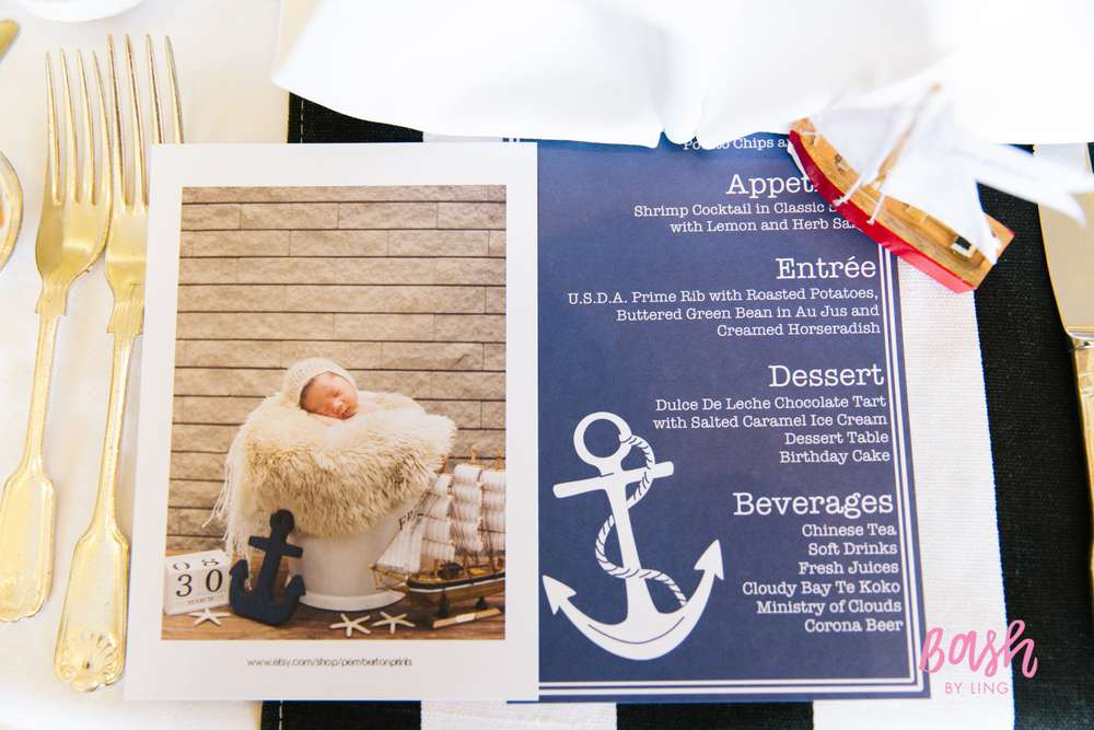 Modern Nautical Birthday Party Birthday Party Ideas Amp Themes