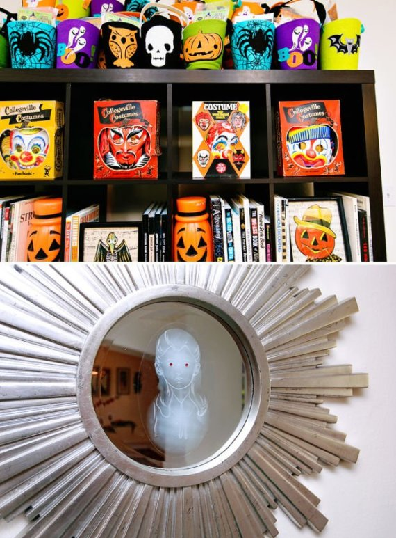 Playful-And-Spooky-Pumpkin-Halloween-Party-Scary-Mirror