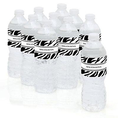Zebra - Personalized Party Water Bottle Sticker Labels