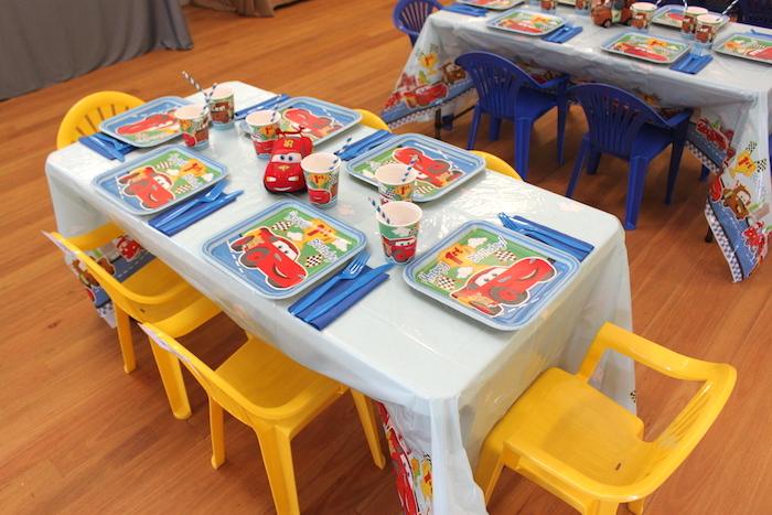 ... Cars Desert Inspired Birthday Party Kids Table ...