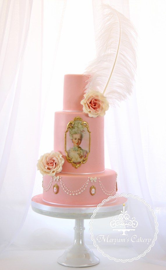 Marie-Antoinette-Vintage-Birthday-Party-Cake