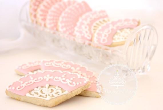 Marie-Antoinette-Vintage-Birthday-Party-Fan-Cookies