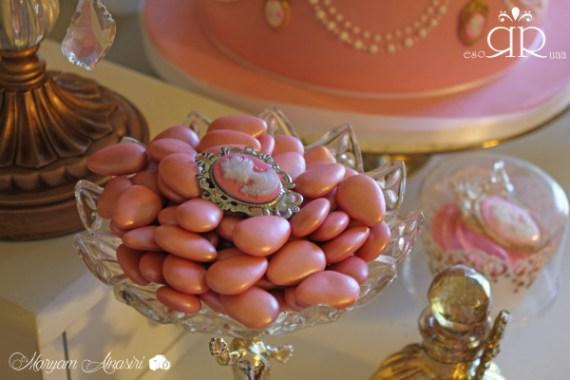 Marie-Antoinette-Vintage-Birthday-Party-Pink-Candies