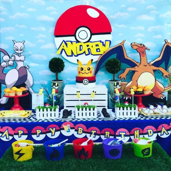 Classic-Pokemon-Go-Birthday-Dessert-Table