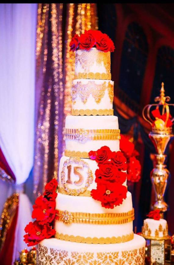 Golden-Beauty-And-The-Beast-Birthday-Layered-Cake