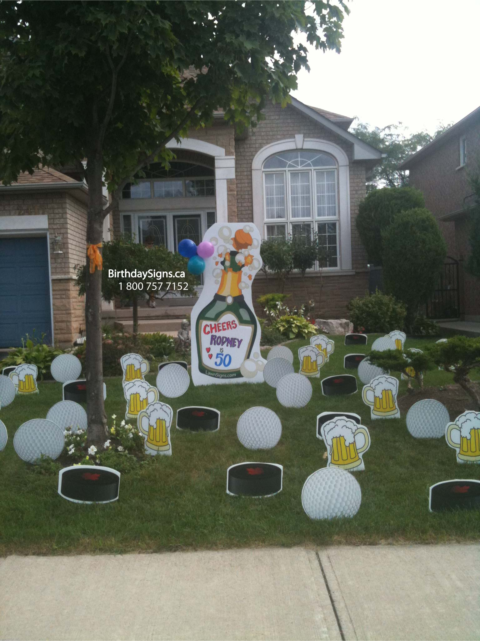 Gallery of Lawn Signs - Birthday Lawn Signs