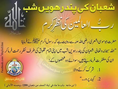 Shab-e-Barat Night Hadees Sharif