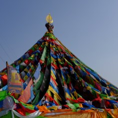 Gebetsfahnen über Xining