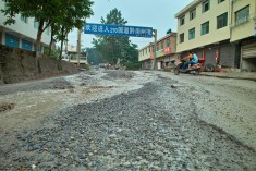 Die Straßen verwandeln sich in Ströme.
