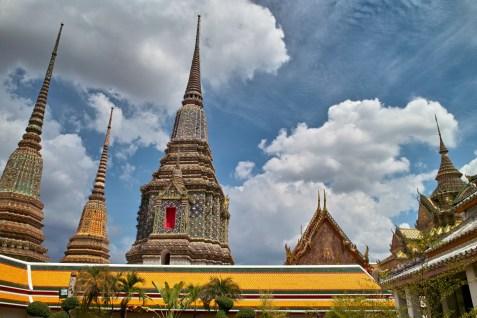Die Dächer von Wat Pho.