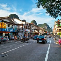 Downtown Yangshuo.