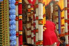 Indische Blumenkränze.