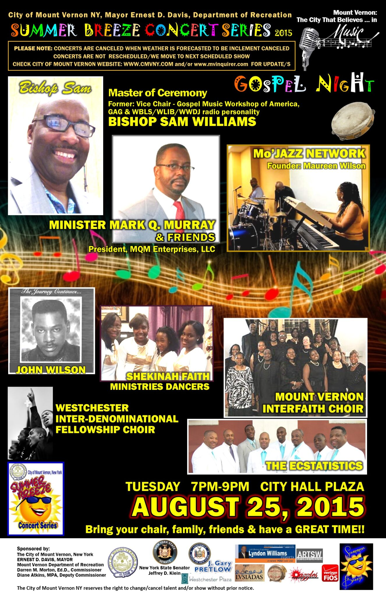 SumBrez 2015 FLIER lineup AUGUST2 gospel bishop sam 8-25 UPDATE