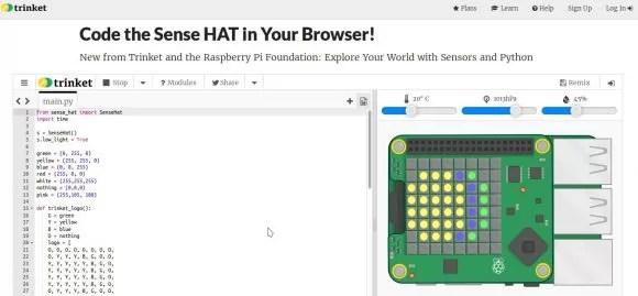 Virtueller Sense HAT für den Raspberry Pi