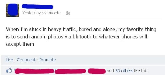 Bored in trafic