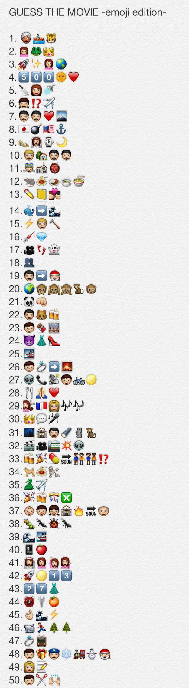 Guess the movie emoji
