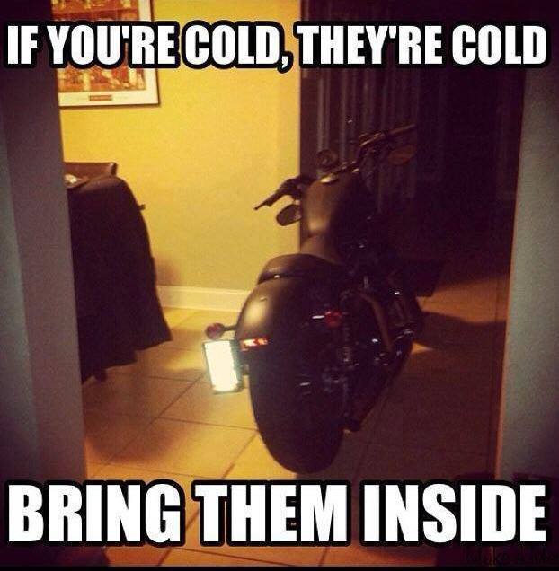 If you're cold