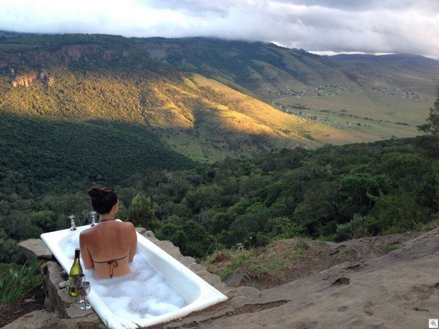 Tub with a good view