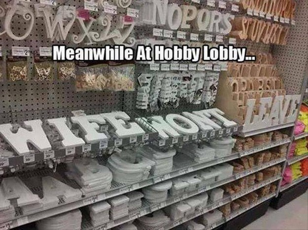 At hobby lobby