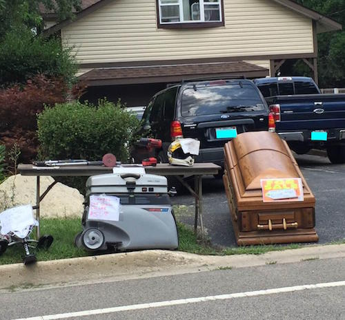 coffin sale