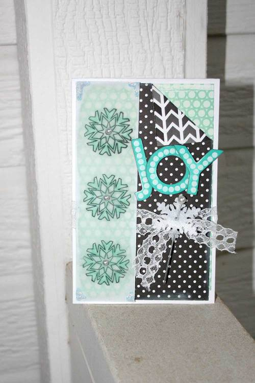 Joy Winter Snowflake Card