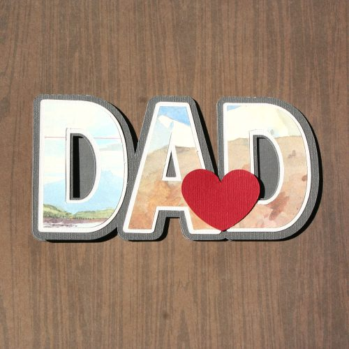 Dad Shaped Card Free SVG