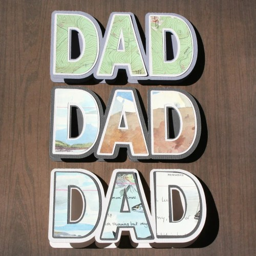 Father's Day Shaped Cards