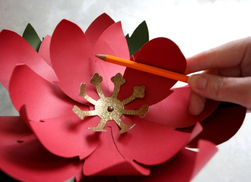Giant Paper Poinsettia SVG Cutting Files