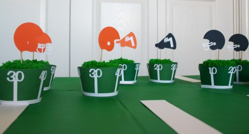 Football Paper Party Set. SVG Cutting files available for this footbal themed party idea.